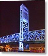 The Blue Bridge - Main Street Bridge Jacksonville Metal Print by Christine Till