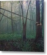 The Blue-green Forest Metal Print by Derek Van Derven