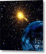 The Blue Planet Metal Print by Klara Acel