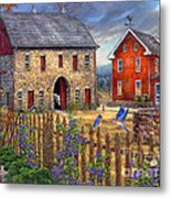 The Bluebirds' Song Metal Print by Chuck Pinson
