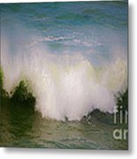 The Breaking Of A Wave ... Metal Print by Gwyn Newcombe
