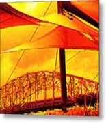 The Bridge On Mars Metal Print by Wendy J St Christopher