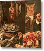 The Butcher's Shop Metal Print by Frans Snyders