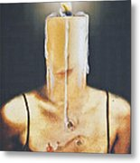 The Candle Flame Metal Print by Larry Butterworth