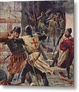 The Capture Of Constantinople Metal Print by John Harris Valda