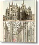 The Cathedral Of Milan Metal Print by Splendid Art Prints