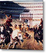 The Chariot Race 1882 Metal Print by Li   van Saathoff