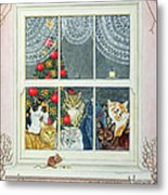 The Christmas Mouse Metal Print by Ditz