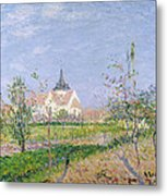 The Church At Vaudreuil Metal Print by Gustave Loiseau