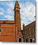 The Church Of Saint Martin Metal Print by Peter Tellone