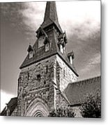 The Church With The Dormers On The Steeple Metal Print by Olivier Le Queinec