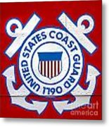 The Coast Guard Shield Metal Print by Olivier Le Queinec
