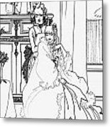 The Coiffing Metal Print by Aubrey Beardsley
