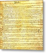 The Constitution Of The United States Of America Metal Print by Design Turnpike