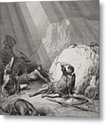 The Conversion Of St. Paul Metal Print by Gustave Dore