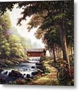 The Covered Bridge Metal Print by John Zaccheo