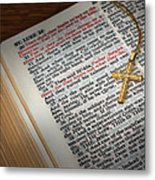 The Cross Of Jesus Metal Print by David and Carol Kelly