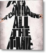 The Crow Metal Print by Ayse Deniz