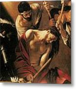 The Crowing With Thorns Metal Print by Caravaggio