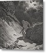 The Death Of Abel Metal Print by Gustave Dore