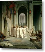 The Death Of Caesar Metal Print by Jean Leon Gerome