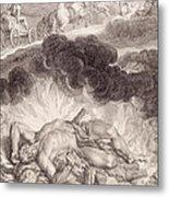 The Death Of Hercules Metal Print by Bernard Picart