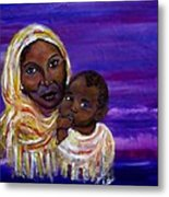 The Devotion Of A Mother's Love Metal Print by The Art With A Heart By Charlotte Phillips
