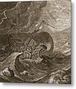 The Dioscuri Protect A Ship, 1731 Metal Print by Bernard Picart