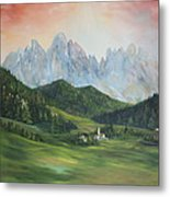 The Dolomites Italy Metal Print by Jean Walker
