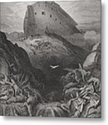 The Dove Sent Forth From The Ark Metal Print by Gustave Dore