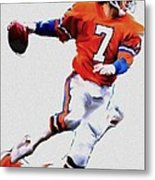 The Drive  John Elway Metal Print by Iconic Images Art Gallery David Pucciarelli
