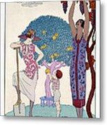 The Earth Metal Print by Georges Barbier