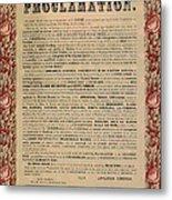 The Emancipation Proclamation Metal Print by American School