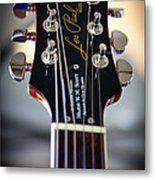 The Epiphone Les Paul Guitar Metal Print by David Patterson