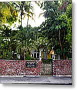 The Ernest Hemingway House - Key West Metal Print by Bill Cannon