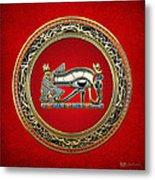 The Eye Of Horus Metal Print by Serge Averbukh