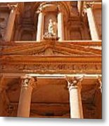 The Facade Of Al Khazneh In Petra Jordan Metal Print by Robert Preston