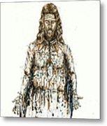 The Faces Of  Body Of Jesus Christ Metal Print by Thomas Lentz