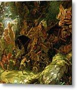The Fairy Raid Metal Print by Sir Joseph Noel Paton