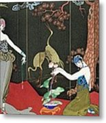 The Fashion For Lacquer Metal Print by Georges Barbier