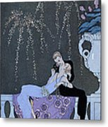 The Fire Metal Print by Georges Barbier