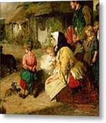 The First Break In The Family Metal Print by Thomas Faed