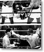The First Sonny Liston Vs. Cassius Clay Metal Print by Everett