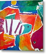The Fish In The Sea Metal Print by Diane Fine