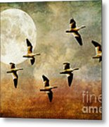 The Flight Of The Snow Geese Metal Print by Lois Bryan