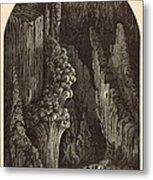 The Geyser 1872 Engraving Metal Print by Antique Engravings