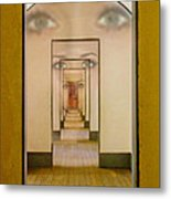 The Girl With Far Away Eyes Metal Print by Bill Gallagher