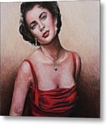 The Glamour Days Elizabeth Taylor Metal Print by Andrew Read