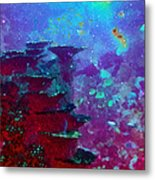 The Glimmering Deep Metal Print by Wendy J St Christopher