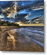 the golden hour during sunset at Israel Metal Print by Ronsho